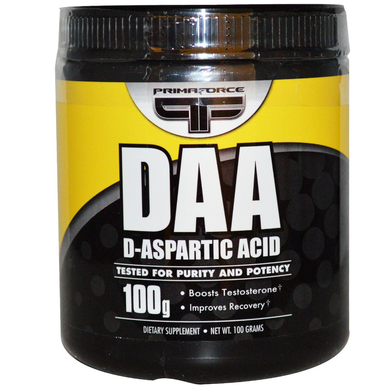 primaforce, daa, d-天冬氨酸, 100 克