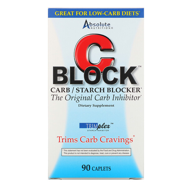 Absolute Nutrition, CBlock, Carb/Starch Blocker, 90 Caplets