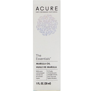 Acure Organics, The Essentials, Marula Oil, 1 fl oz (30 ml)