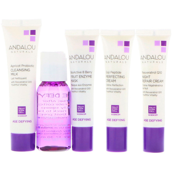 Andalou Naturals, Get Started Age Defying, Skin Care Essentials, 5 Piece Kit