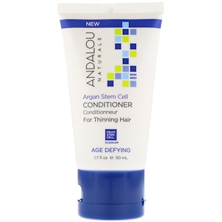 Andalou Naturals, Conditioner, Age Defying, For Thinning Hair, Argan Stem Cell, 1.7 fl oz (50 ml)
