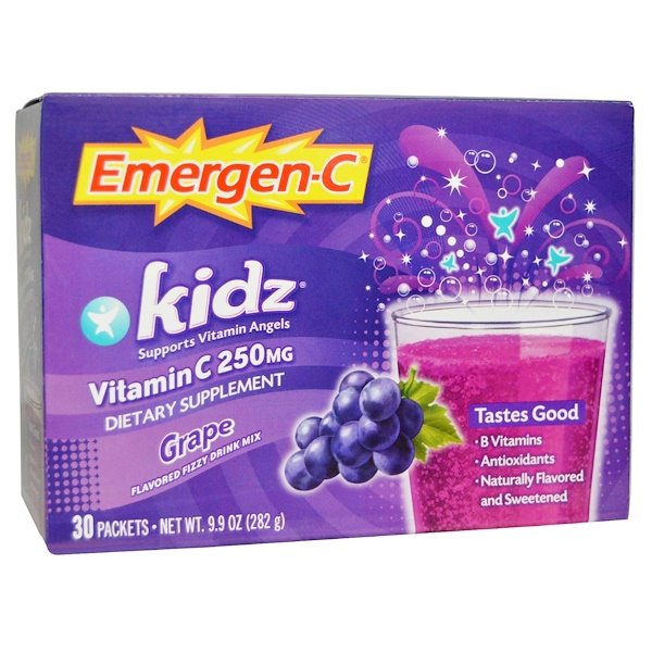 Emergen-C, Kids, Grape, 30 Packets, (9.4 g) Each (Discontinued Item)