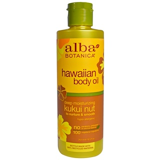 Alba Botanica, 夏威夷身体精油,夏威夷果油, 8.5 fl oz (251 ml)