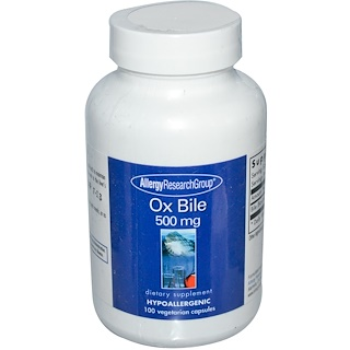 Allergy Research Group, 牛胆,500毫克,100粒