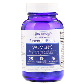 Allergy Research Group, Essential-Biotic, Women's, 60 Delayed-Release Vegetarian Capsules