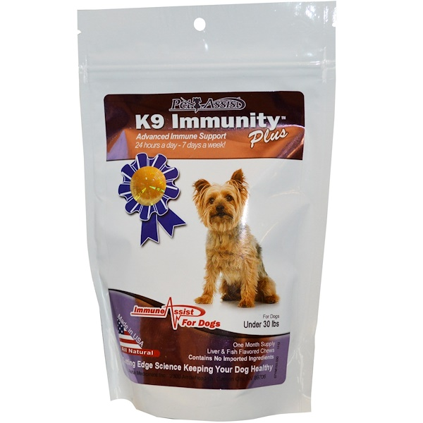 Aloha Medicinals Inc., K9 Immunity Plus, for Dogs, Liver & Fish Flavored Soft Chews, 30 Wafers (Discontinued Item)