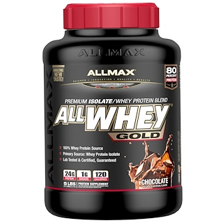 ALLMAX Nutrition, AllWhey Gold, 100% Whey Protein + Premium Whey Protein Isolate, Chocolate, 5 lbs. (2.27 kg)