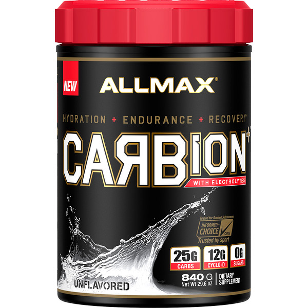 CARBion+ with Electrolytes + Hydration, Gluten-Free + Vegan Certified, Unflavored, 1.85 lbs (840 g)