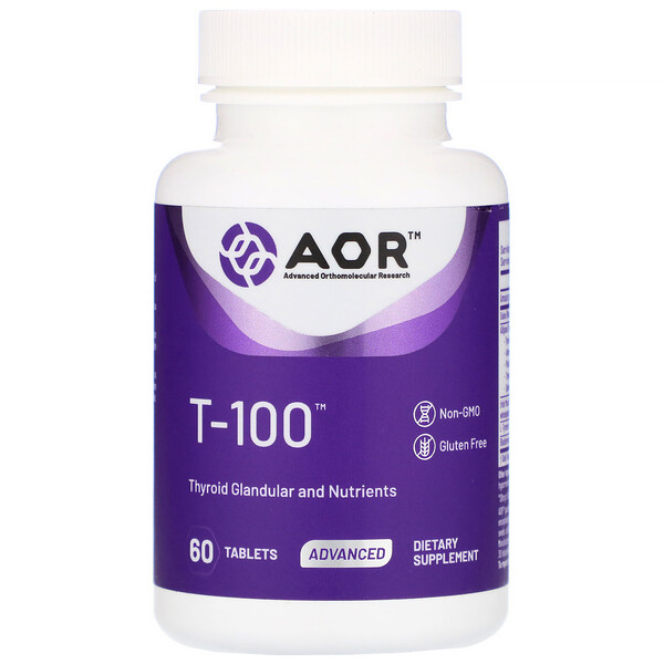 T-100, Thyroid Support, 60 Tablets