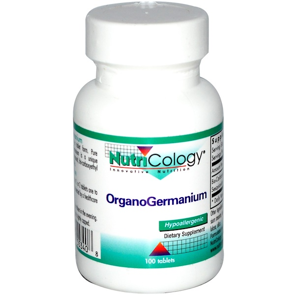 Nutricology, OrganoGermanium, 100 Tablets (Discontinued Item)