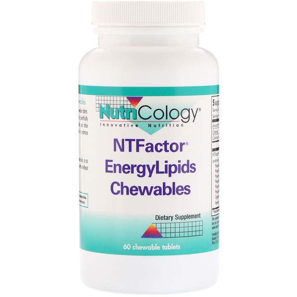 Nutricology, NT Factor能量脂质咀嚼片,60片
