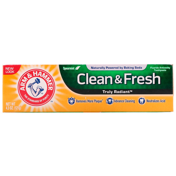 Arm & Hammer, Truly Radiant, Clean & Fresh Toothpaste, Spearmint, 4.3 oz (121 g)