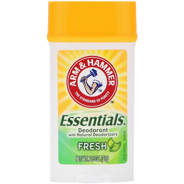 Arm & Hammer, Essentials天然除臭剂,男女合用,清爽,2.5盎司(71克)