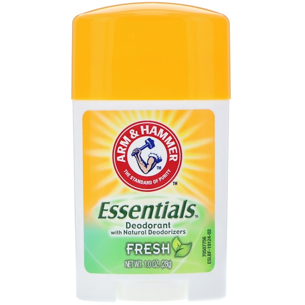 Arm & Hammer, Essentials天然除臭剂,男女合用,清爽,1.0盎司(28克)