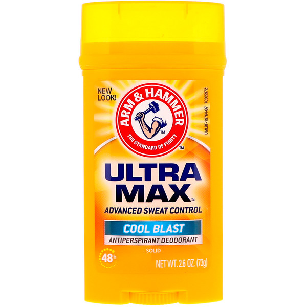 Arm & Hammer, UltraMax, Solid Antiperspirant Deodorant, for Men, Cool Blast, 2.6 oz (73 g)