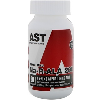 AST Sports Science, Na-R-ALA 200, 200 mg, 90粒胶囊