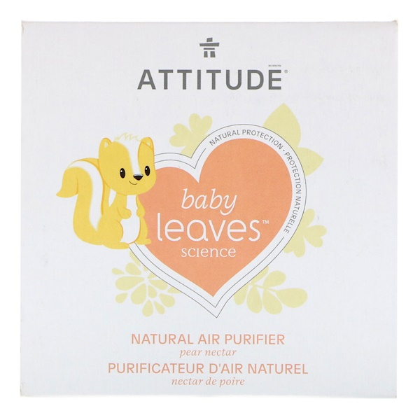 ATTITUDE, Baby Leaves Science,天然空气净化剂,梨花蜜,8盎司(227克) (Discontinued Item)