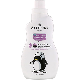 ATTITUDE, Little Ones, Laundry Detergent, Sweet Lullaby, 33.8 fl oz (1 l)