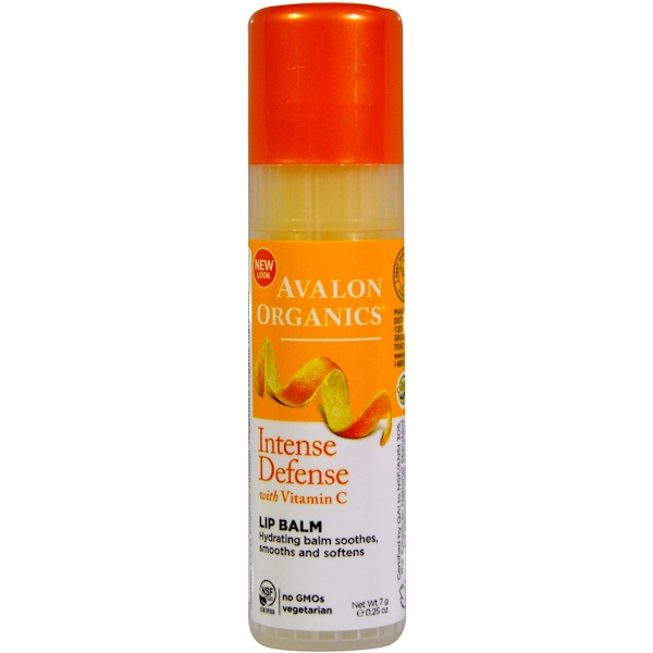 Avalon Organics, Vitamin C Renewal, Soothing Lip Balm, .25 oz (7 g)