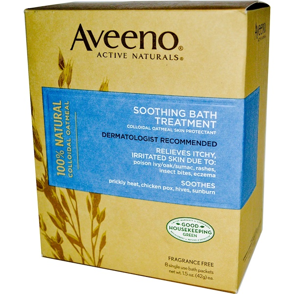 Aveeno, Active Naturals, Soothing Bath Treatment, 8ct