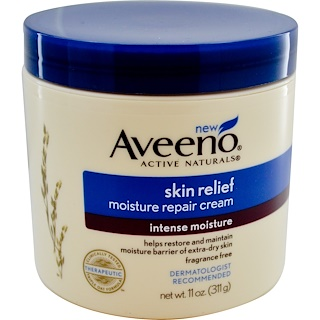 Aveeno, Active Naturals, Skin Relief Moisture Repair Cream, 11 oz