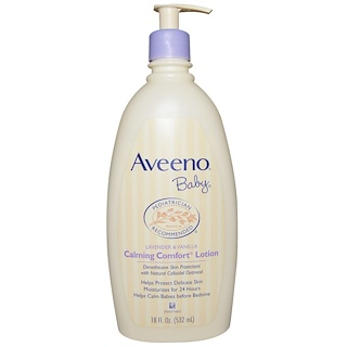 Aveeno, 舒缓舒柔乳液,薰衣草和香草味,18 fl oz (532 ml)