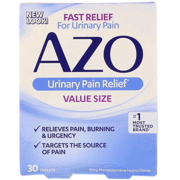 Azo, Urinary Pain Relief泌尿疼痛缓解片,30片