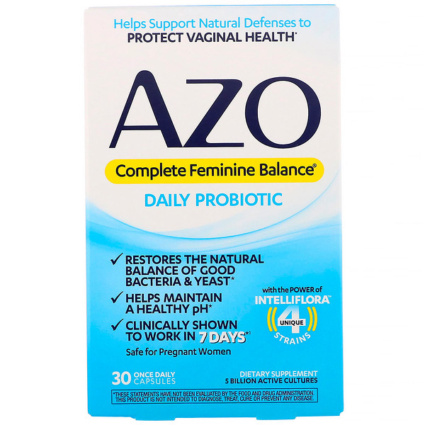 Complete Feminine Balance, Daily Probiotic, 30 Once Daily Capsules