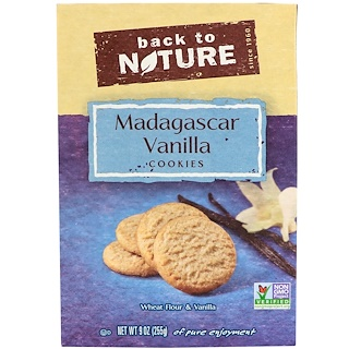 Back to Nature, Madagascar Vanilla Cookies, 9 oz (255 g)