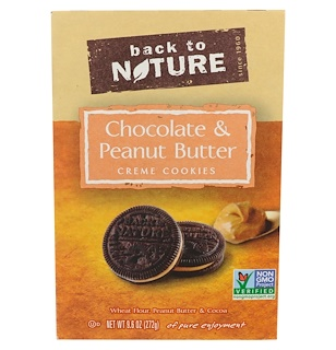 Back to Nature, Chocolate & Peanut Butter Creme Cookies, 9.6 oz (272 g)