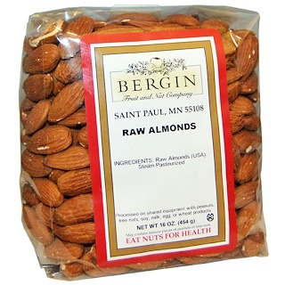 Bergin Fruit and Nut Company, 生杏仁,16 盎司(454 克)