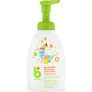 BabyGanics, Good Night Shampoo + Bodywash, Orange Blossom, 16 fl oz (473 ml)