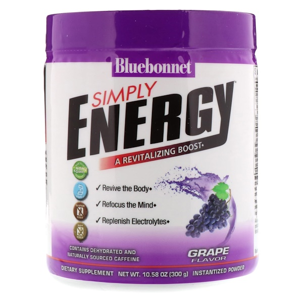 Bluebonnet Nutrition, Simply Energy,葡萄味,10.58盎司(300克) (Discontinued Item)