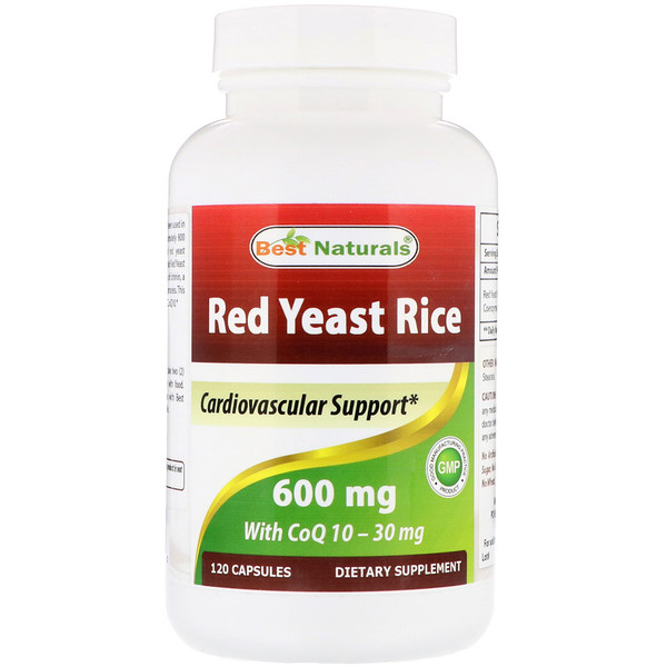 Best Naturals, Red Yeast Rice, with CoQ10, 600 mg, 120 Capsules (Discontinued Item)