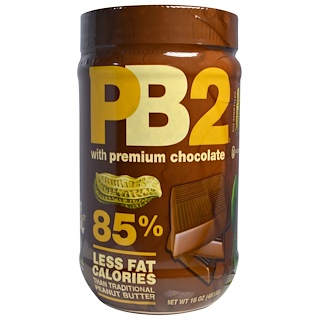 Bell Plantation, PB2, Powdered Peanut Butter with Premium Chocolate, 1 lb (454 g)