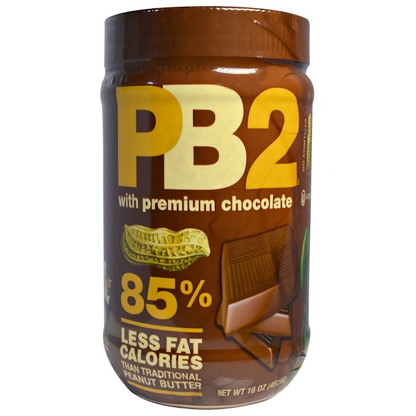 PB2 Foods, PB2, Powdered Peanut Butter with Premium Chocolate, 1 lb (454 g)
