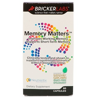 Bricker Labs, Memory Matters 提高记忆力胶囊,60 粒