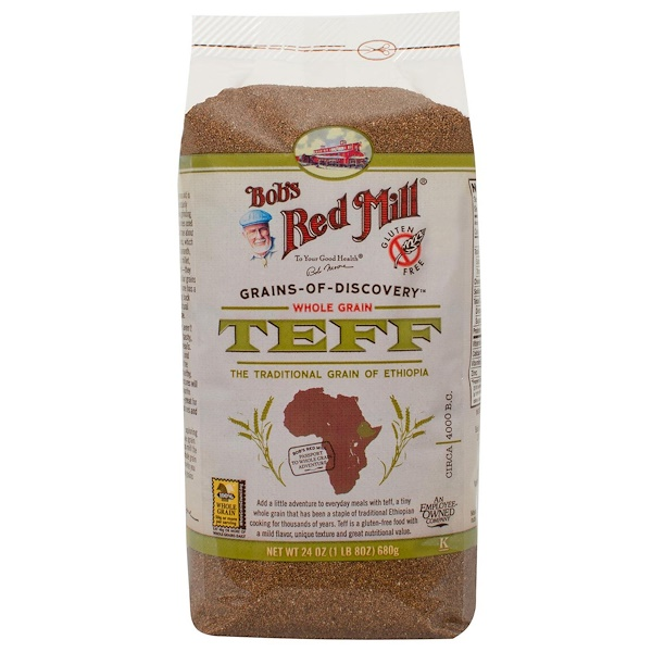 Bob's Red Mill, Teff, Whole Grain, 24 oz (680 g) (Discontinued Item)