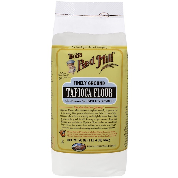 Bob's Red Mill, Finely Ground, Tapioca Flour, Gluten Free, 20 oz (1 lb 4 oz) 567 g (Discontinued Item)