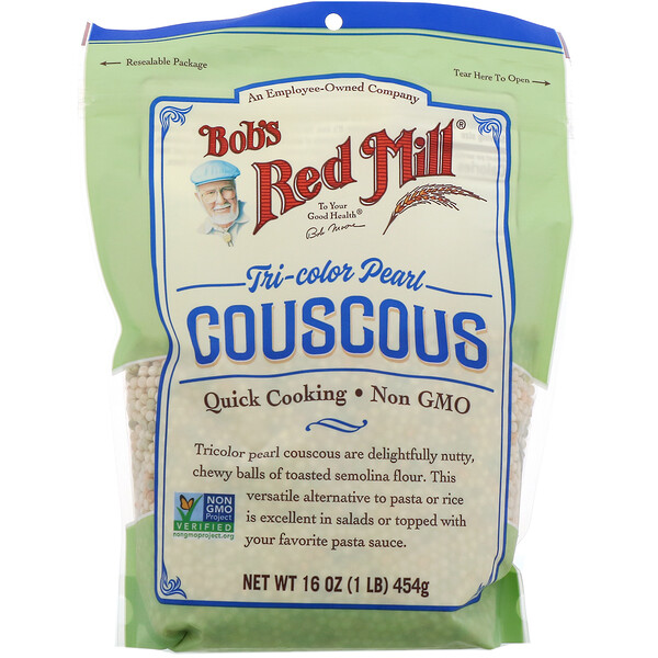 Bob's Red Mill, Tri-Color Pearl Couscous, 16 oz (454 g)