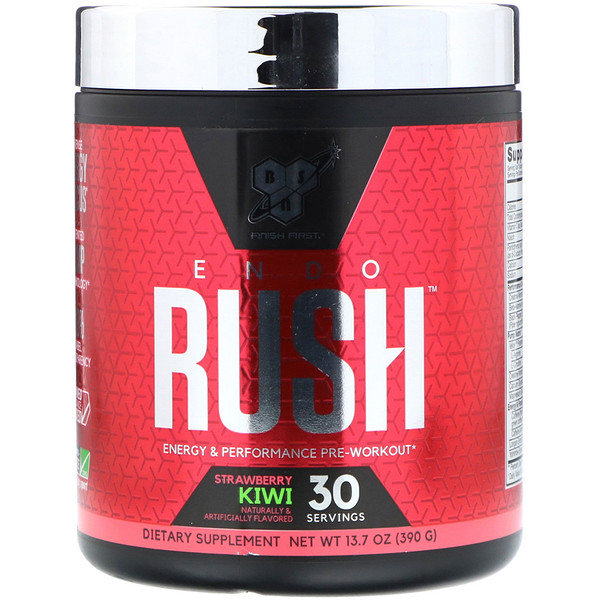 BSN, Endorush, Pre-Workout, Strawberry Kiwi 13.7 oz (390 g)