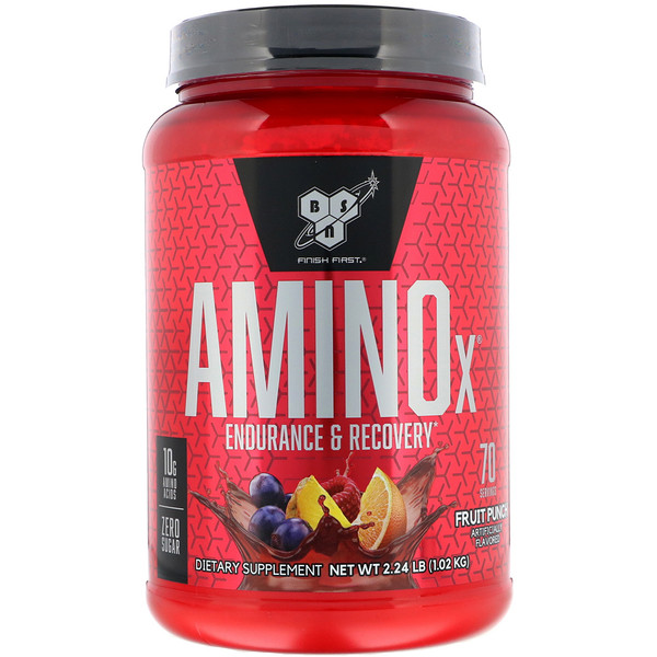 BSN, AminoX, BCAA Formula, Non-Caffeinated, Fruit Punch, 2.23 lb (1.01 kg)
