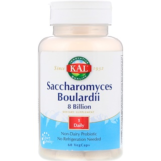 KAL, Saccharomyces Boulardii 8 Billion, 60 VegCaps
