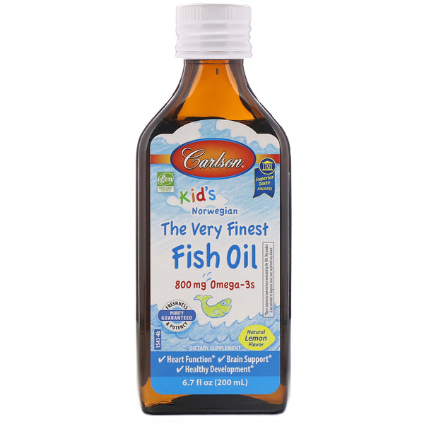 Kid's Norwegian, The Very Finest Fish Oil, Natural Lemon Flavor, 800 mg, 6.7 fl oz (200 ml)