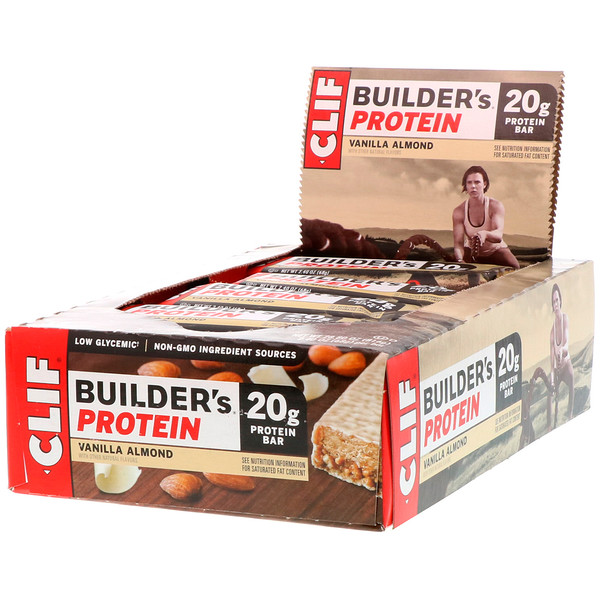 Builder's Protein Bar, Vanilla Almond, 12 Bars, 2.4 oz (68 g) Each