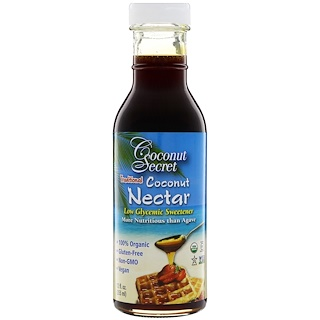 Coconut Secret, Traditional Coconut Nectar, Low Glycemic Sweetener, 12 fl oz (355 ml)
