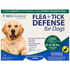 Vetri-Science, Flea + Tick Defense for Dogs 45-88 lbs., 3 Applicators, 0.091 fl oz Each