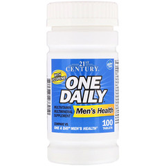 21st Century, One Daily,男性健康维生素片,100片