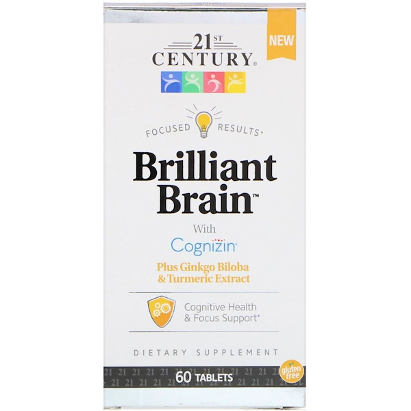 21st Century, Brilliant Brain, 60 Tablets