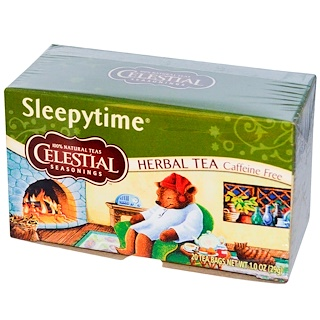 Celestial Seasonings, 睡眠时间宁神花草茶,不含咖啡因, 20茶包